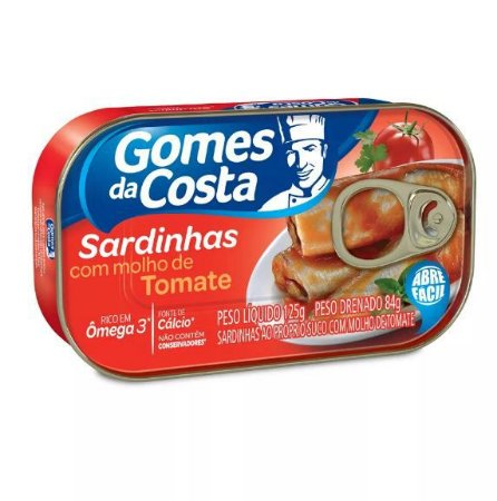 SARDINHAS GOMES COSTA 125G TOMATE