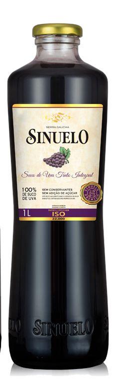 SUCO DE UVA TINTO INTEGRAL SINUELO 1L
