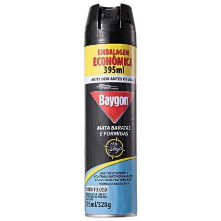 Inseticida Baygon Mata Baratas e Formigas 395Ml