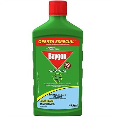 Inset Baygon Acao Total 475Ml Liquido Pet