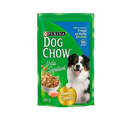 DOG CHOW ADULTO 100G FRANGO AO MOLHO