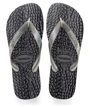 Sandalia Havaianas Top Animals 37 e 38 Cinza Aco