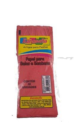 Papel Bala Seda Vermelho 48 Unidades Karamello