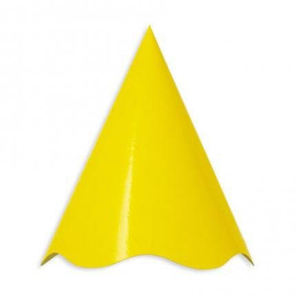 Chapeu Cone Amarelo 08 Unidades