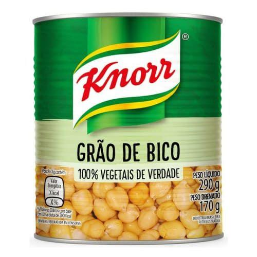 GRAO DE BICO KNORR 170G EM CONSERVA LT