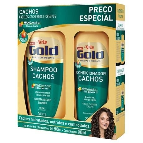 KIT SH+COND NIELY GOLD 300ML E 200ML CACHO