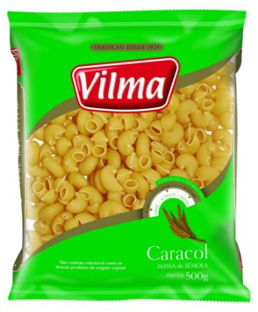 MASSA VILMA 500G CARACOL SEMOLA