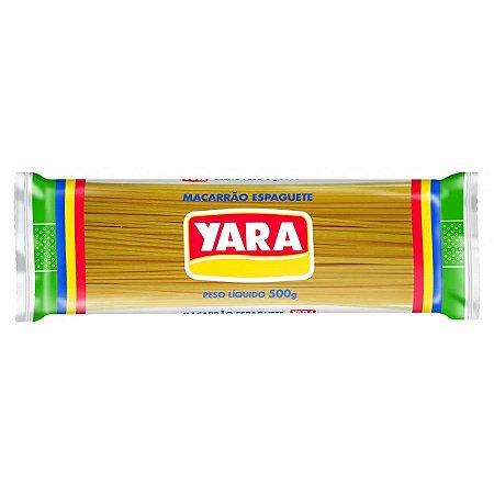 MACARRAO YARA 500G ESPAGUETE COMUM N.0