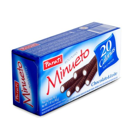 ROLINHO WAFER MINUETO 40G CHOC/LEITE