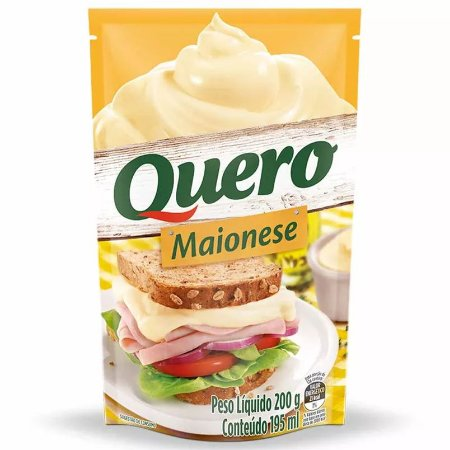 MAIONESE QUERO 200G SACHE