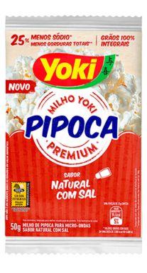 PIPOCA P/MICROO YOKI 50G NATURAL COM SAL