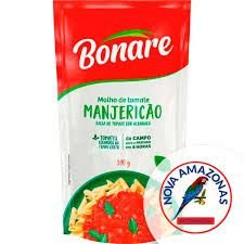 Molho De Tomate Bonare 340G Manjericao  Sache