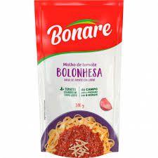 Molho De Tomate Bonare 340G Bolosenha Sache