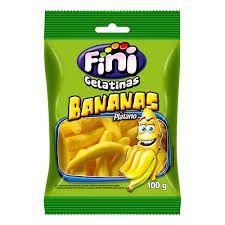Gelatinas Bananas Fini 100G