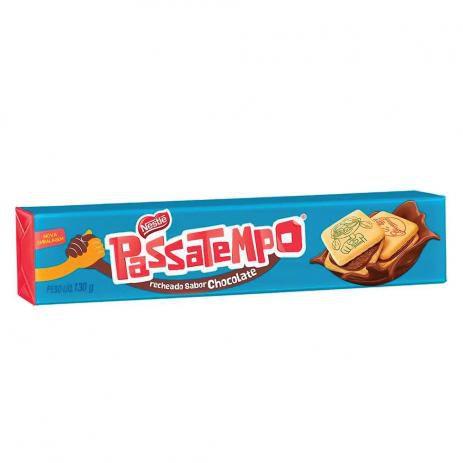BISC PASSATEMPO RECHEADO CHOCOLATE 130 G
