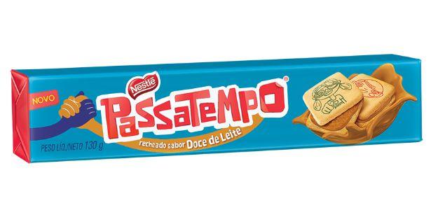 BISCOITO PASSATEMPO 130G RECHEADO DOCE DE LEITE