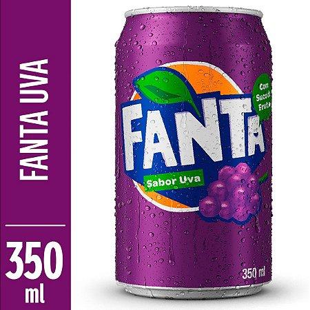 REFRIGERANTE FANTA 350ML UVA