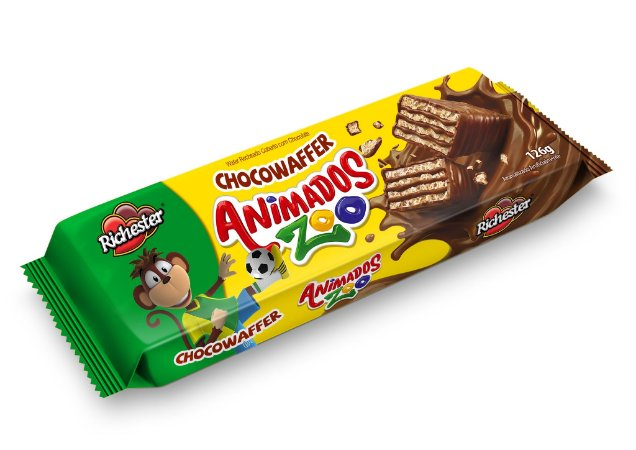 BISC FORT 126G WAFER ANIM ZOO CHOCOLATE