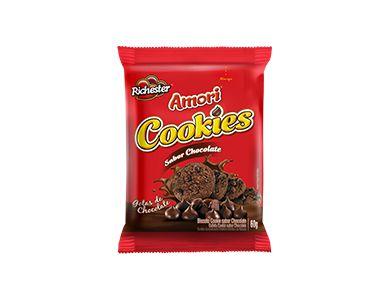 BISCOITO RICHESTER 40G AMORI COOKIES CHOCOLATE
