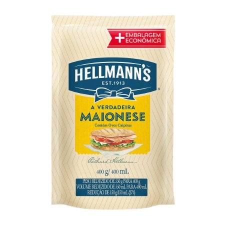 MAIONESE HELLMANNS 400G SACHE