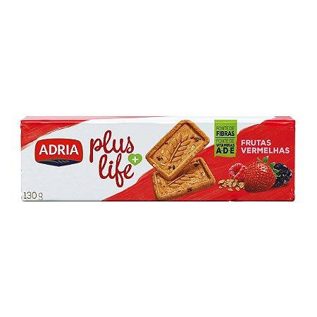 BISC ADRIA PLUS LIFE 130G FRUTAS VERMELHAS
