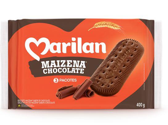 BISCOITO MARILAN 400G MAIZENA CHOCOLATE