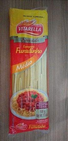 MACARRÃO VITARELLA 500G ESPAGUETE FURADINHO
