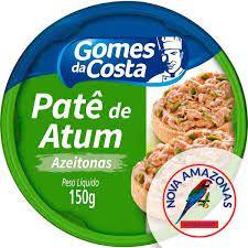 PATE DE ATUM GOMES COSTA 150G AZEITONAS