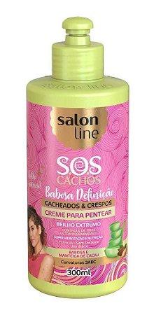 CREME PENTEAR SALON LINE 300ML SOS BABOSA/MANTEIGA  DE CACAU