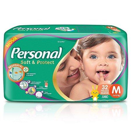FRALDA PERSONAL BABY JUMBO M 32 UNDS