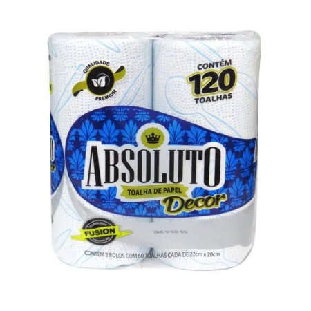 PAPEL TOALHA ABSOLUTO DECORADO  C/2UND