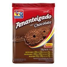 BISCOITO FORTALEZA 330G AMANTEIGADO CHOCOLATE