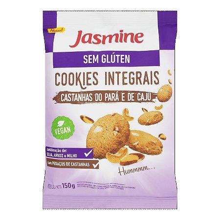 BISC COOKIES INTEGRAL JASMINE 150G CASTANHA DO PARA/CAJU