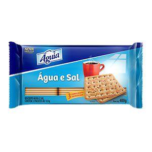 BISCOITO AGUIA 400G AGUA E SAL