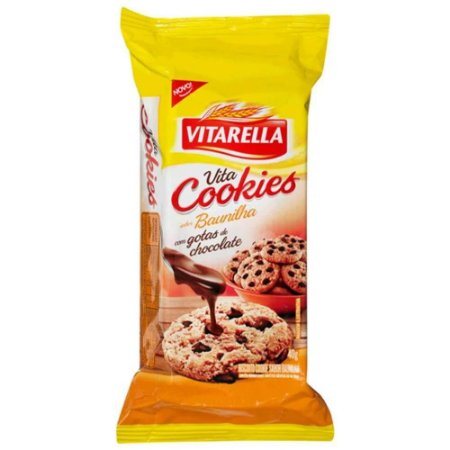 BISCOITO VITARELLA COOKIE 40G BAUNIL\GOTAS CHOCOLATE