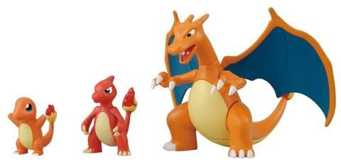 Pokémon Charmander Evolution Set Plamo Collection #29 - Original