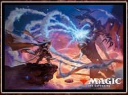 """Magic: The Gathering Player's Card Sleeve """"Basic Set 2019"""" (Ajani's Last Stand) (MTGS-043) Pack"""