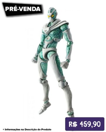 *Pré-venda* [10% de ENTRADA] JoJo's Bizarre Adventure Part.III - Super Action Statue Hierophant Green [Original]