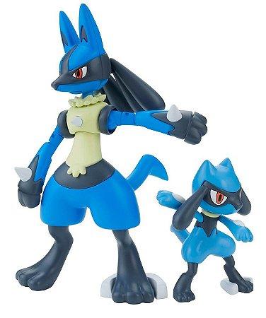 [Estoque No Japão] Pokemon Plamo #44 Riolu & Lucario