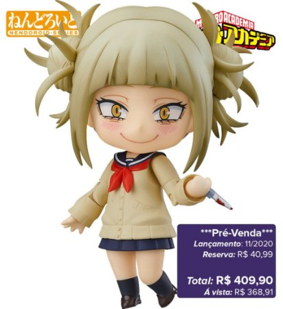 *Pré-venda* [10% de ENTRADA] Nendoroid #1333 - My Hero Academia - Toga Himiko [Original Good Smile]