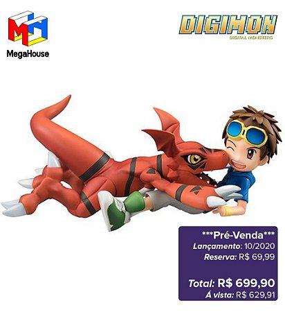 *Pré-venda* [10% de ENTRADA] Digimon Tamers - G.E.M.Series Matsuda Takato & Guilmon [Original MegaHouse]