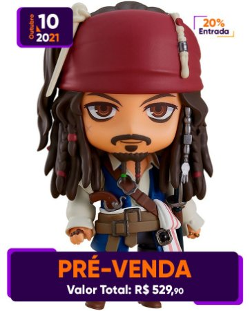 [Pré-venda] Nendoroid #1557 Pirates of the Caribbean: Jack Sparrow