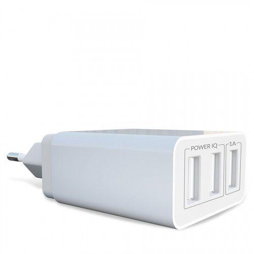 Adaptador de parede com três saídas USB