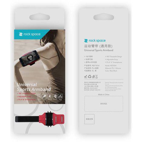 """Braçadeira Universal Hands-free para Smartphone Até 6""""; Rotação 180° Preto"""