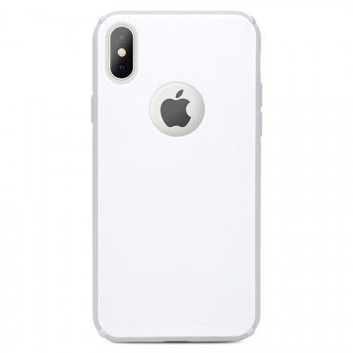 Capa Antichoque Glass Case White para iPhone X