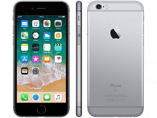 iPhone 6S Cinza Espacial 128Gb Na Caixa + Capa e Película