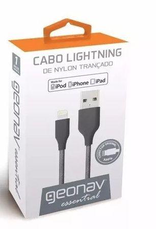 Cabo Lightning Geonav 1m De Nylon Trançado Space Gray