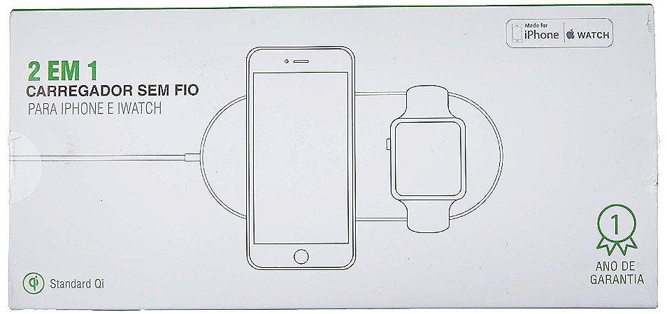 carregador sem fio Ql 2 em1 para iPhone e Apple watch