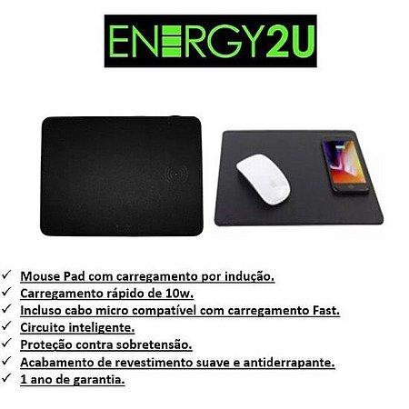 mouse pad + carregador sem fio Ql Energy2u