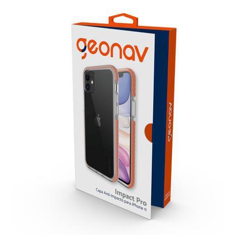 Capinha de Celular Anti-Impacto para iPhone 11 Pro - Geonav Impact Pro Laranja